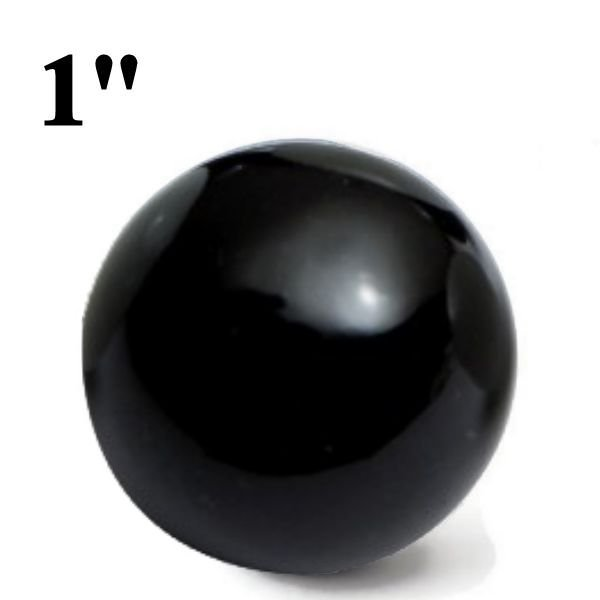"1"" Black Glass Marbles"
