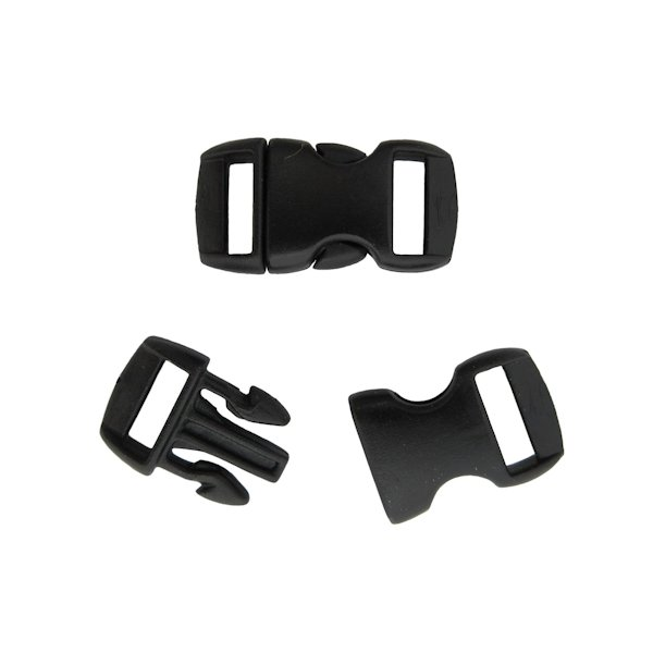 "3/8"" Curved Black Side Release Buckles"