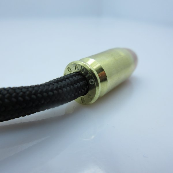 .380 Auto Bullet Bead Zipper Pull In Brass & Copper By Bullet Beadz