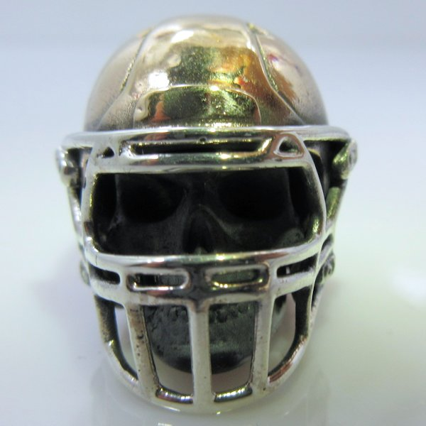 American Footballer in .925 Sterling Silver and Bronze by GD Skulls
