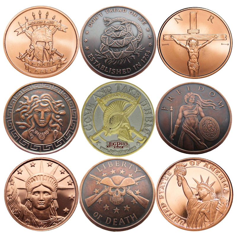 Challenge Coins & Copper Rounds