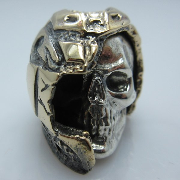 Biker in .925 Sterling Silver and Bronze by GD Skulls