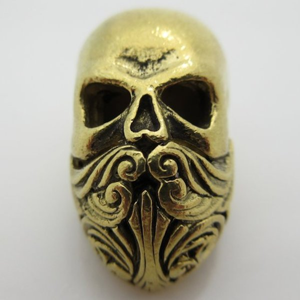 Bald Bearded Mofo in Brass by Santi-Se