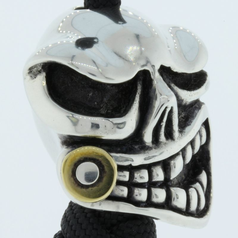 Mr .45 Bead In .935 Sterling Silver and Brass By Bad Ass Ring Company