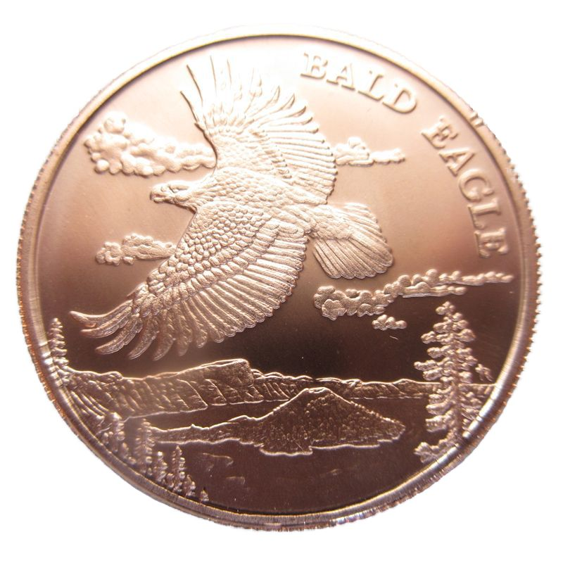 Bald Eagle (Wildlife Series) 1 oz .999 Pure Copper Coin
