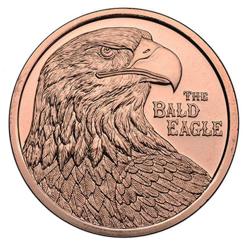 Bald Eagle 1 oz .999 Pure Copper Coin