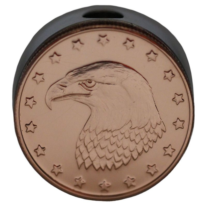 Bald Eagle Design (Polished Copper) Stainless Steel Core Lanyard Bead By Barter Wear