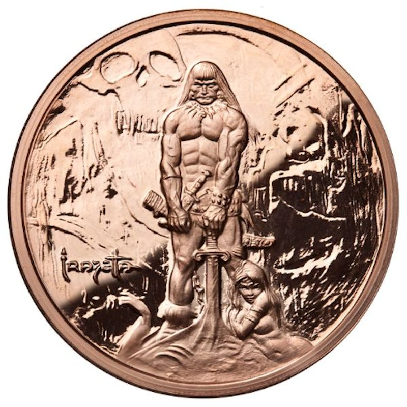 Barbarian 1 oz .999 Pure Copper Coin