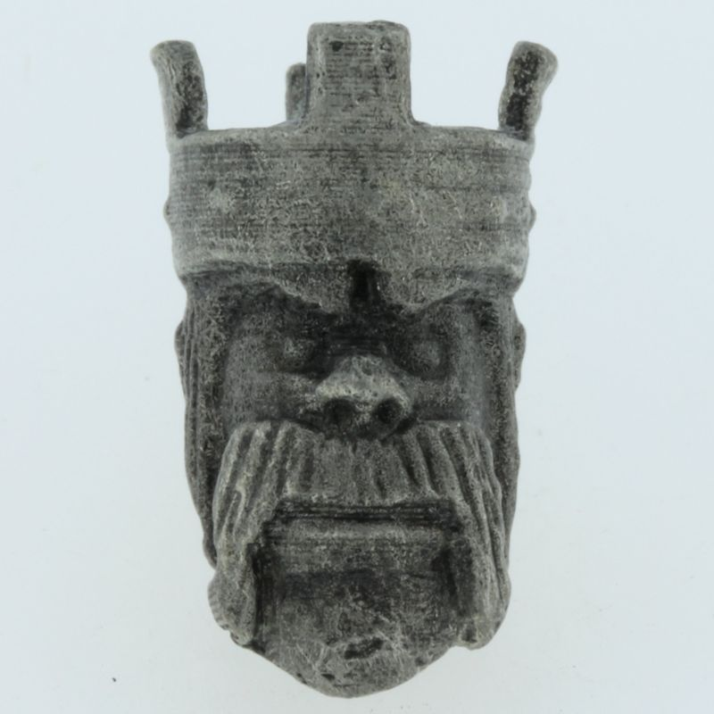 Barbarian King Bead in Pewter by Marco Magallona