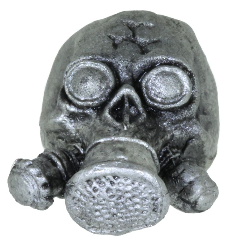 Biohazard Gas Mask in Pewter by Barrett Designs