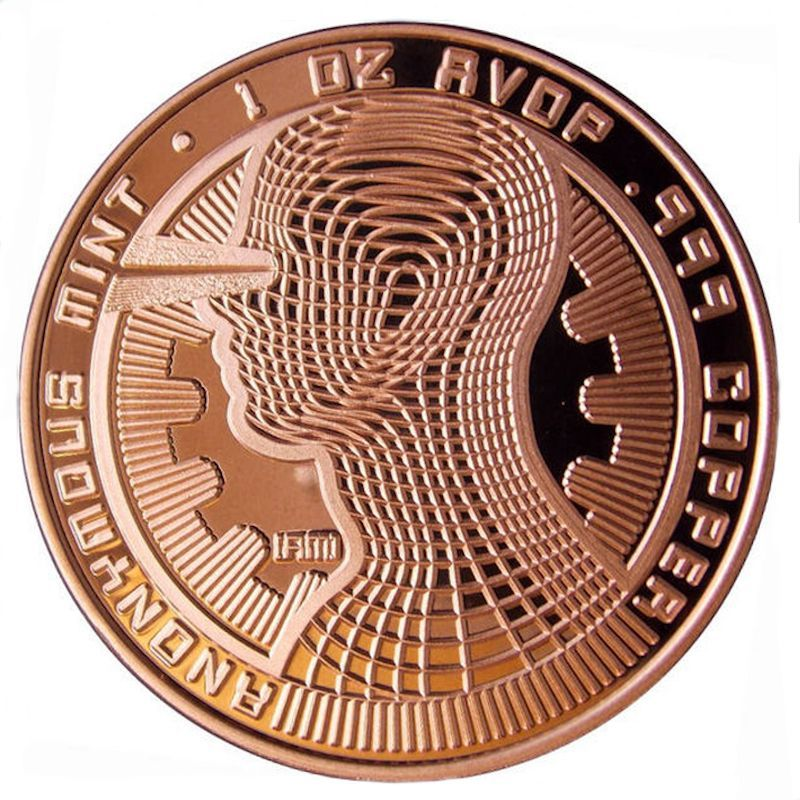 Bitcon - Guardian 1 oz .999 Pure Copper Coin