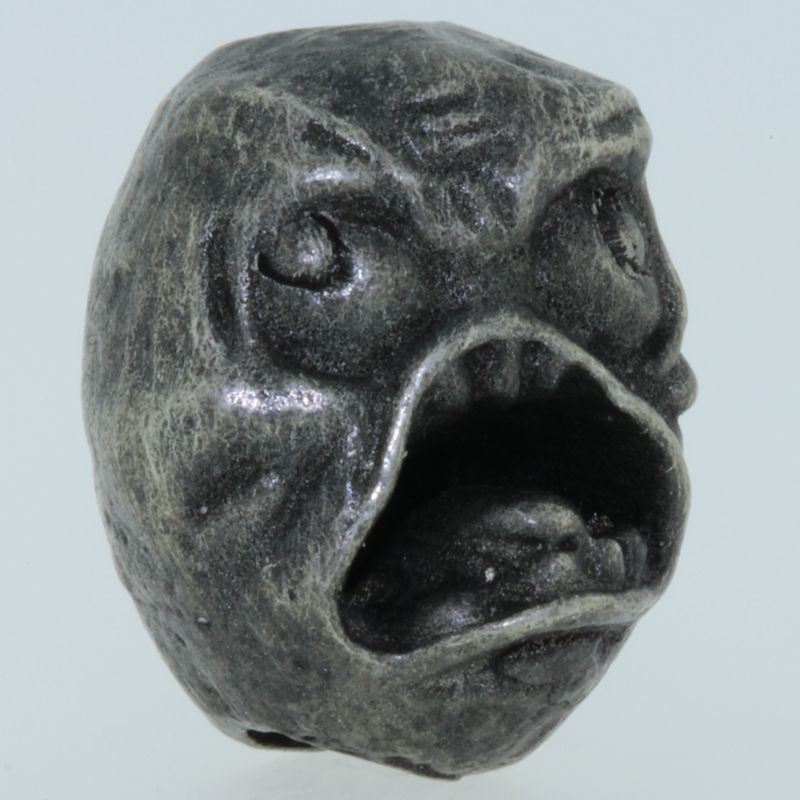 Blabber Mouth Bead in Pewter by Marco Magallona