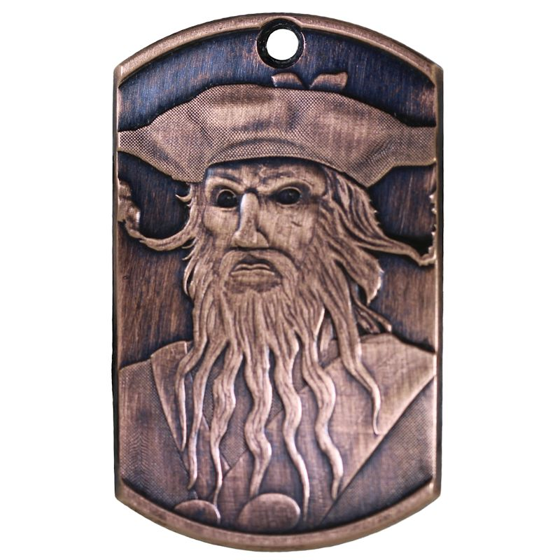 Blackbeard Copper Dog Tag Necklace