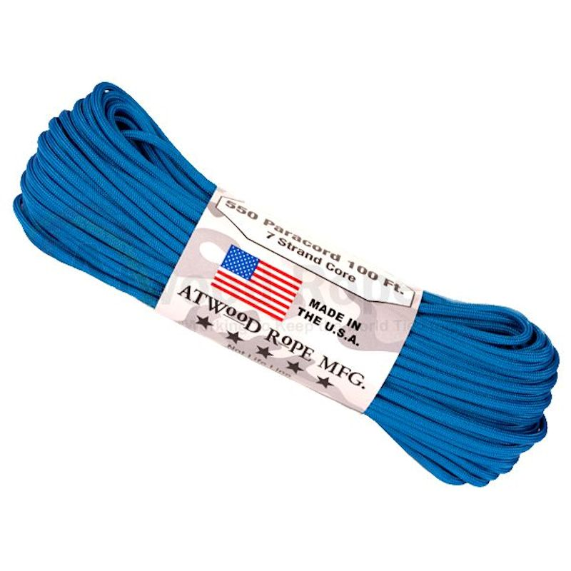 Blue 550# Type III Paracord 100' S02