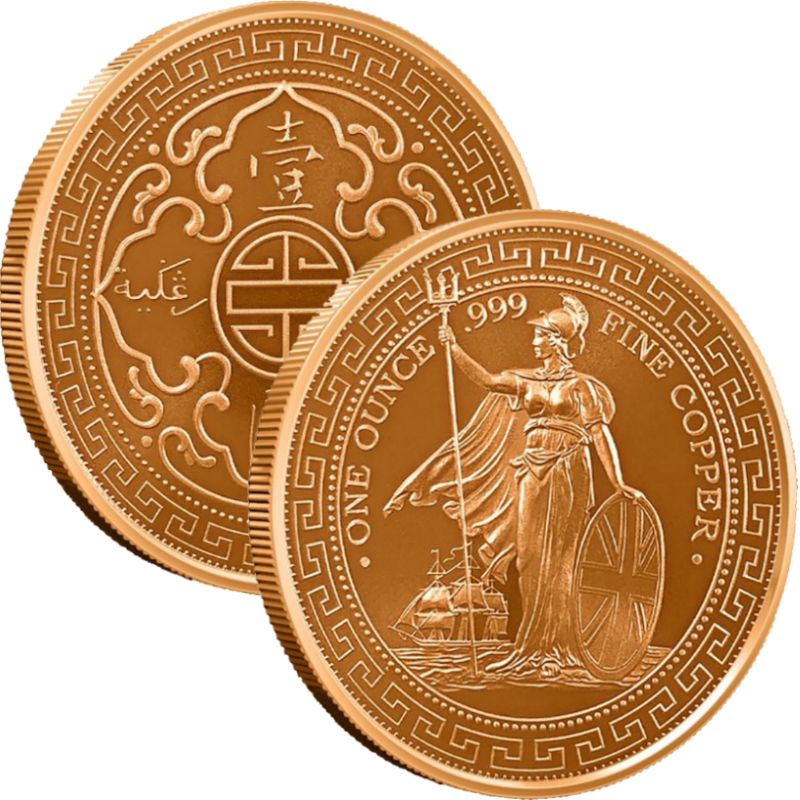 British Trade Dollar 1 oz .999 Pure Copper Round
