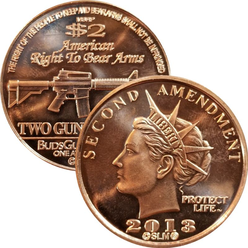 Second Amendment Liberty 2013 AR-15 Rifle 1 oz .999 Pure Copper Round