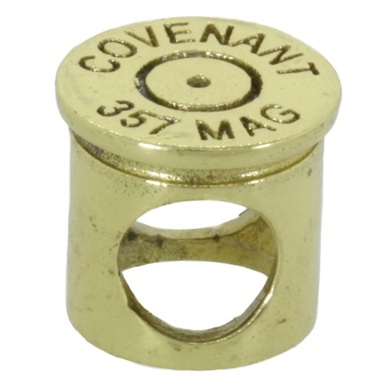 .357 Mag Bullet Shell Spacer Bead in Brass by Covenant Everyday Gear