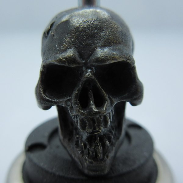 Perfect Skull in Brass With Black Patina by Covenant Everyday Gear