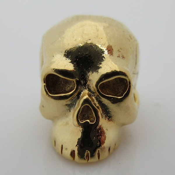 Classic Skull Bead in 18K Gold Finish by Schmuckatelli Co.