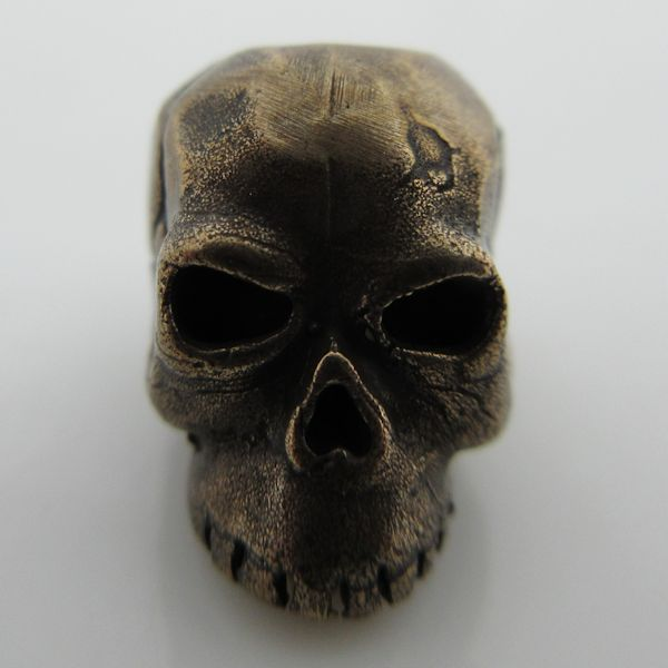Classic Skull Bead in Solid Oil Rubbed Bronze by Schmuckatelli Co.