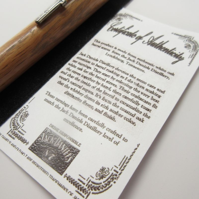 Civil War Bullet Twist Pen in (Jack Daniel's® Oak) Gun Metal