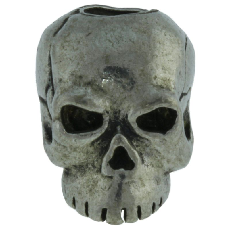 Classic Skull Bead in Pewter by Schmuckatelli Co.
