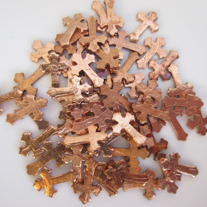 Fancy Cross Nuggets from.999 Pure Copper (6 Pieces)
