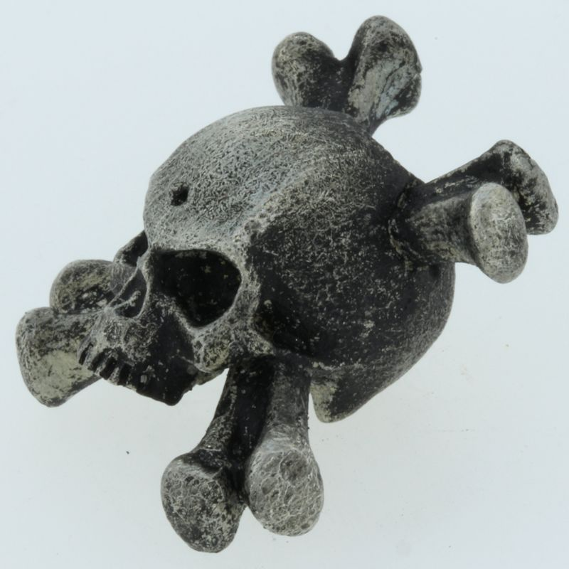Crossbones Bead in Pewter by Marco Magallona