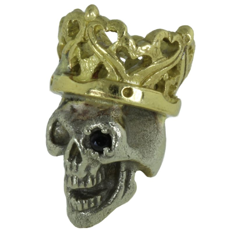 Cursed King in Brass/White Brass w/Black Onyx Eye (Polished Crown) by Covenant Everyday Gear