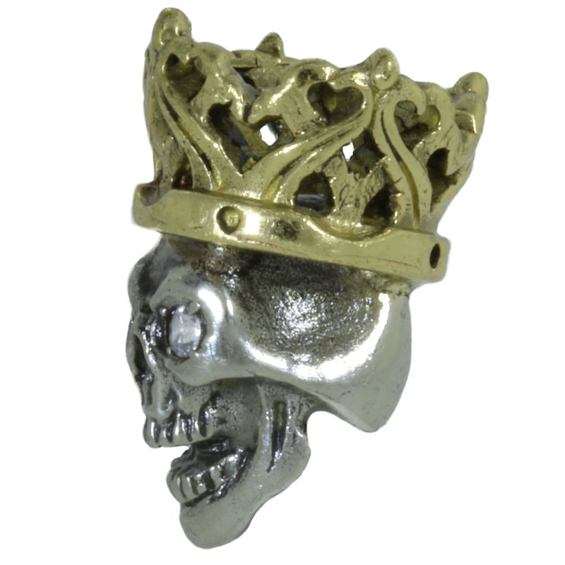 Cursed King in Brass/White Brass w/Zicron Eye (Polished Crown) by Covenant Everyday Gear