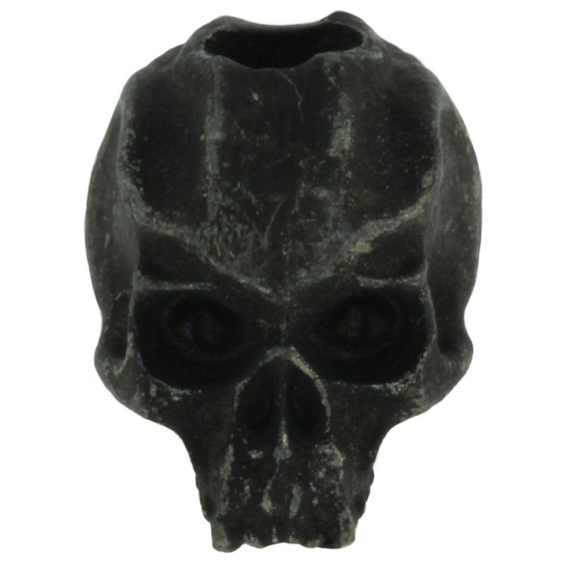 Cyber Skull Bead in Black Oxide Finish by Schmuckatelli Co.