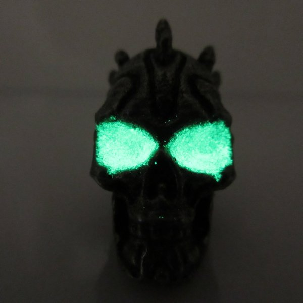 Darth Maul Bead With Green Glow In The Dark Eyes in Pewter by Marco Magallona