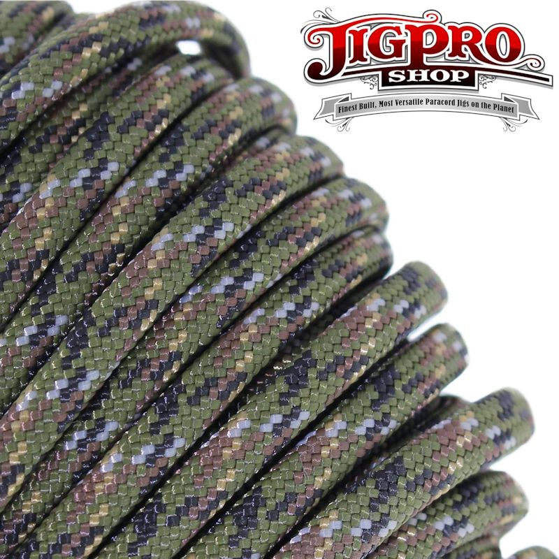 Digital Woodlands Camo 550# Type III Paracord 100' C26