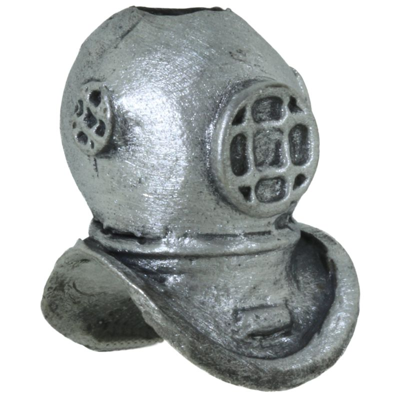 Diving Helmet Bead in Pewter by Marco Magallona