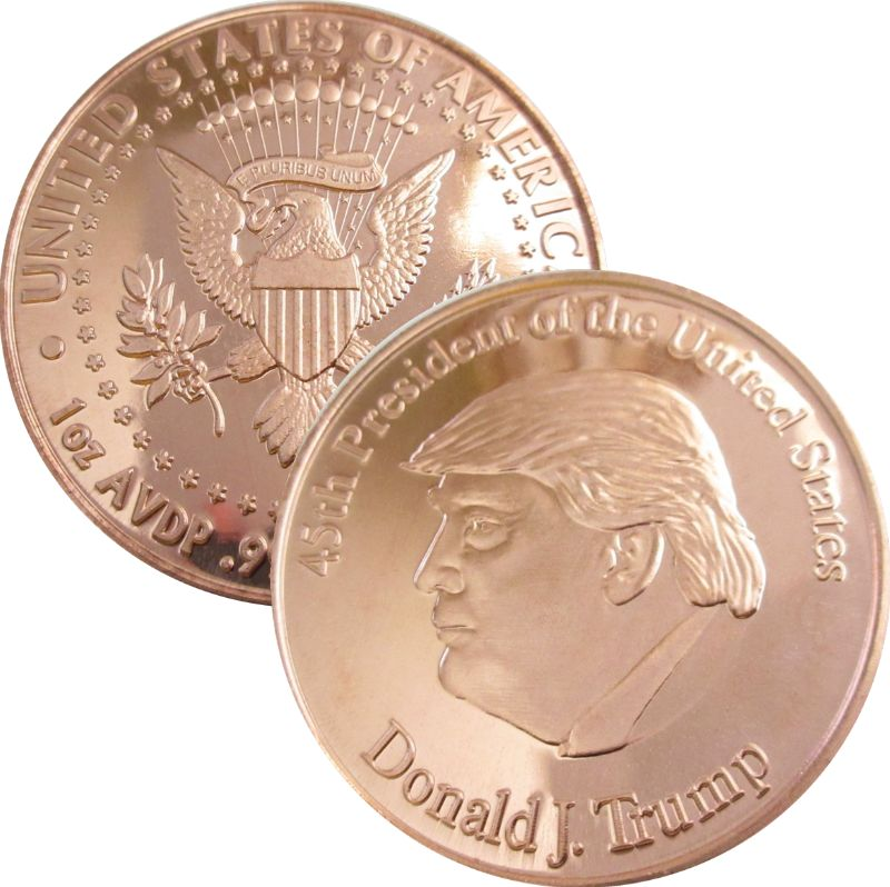 Donald J. Trump 45th President (Private Mint) 1oz .999 1 oz .999 Pure Copper Round