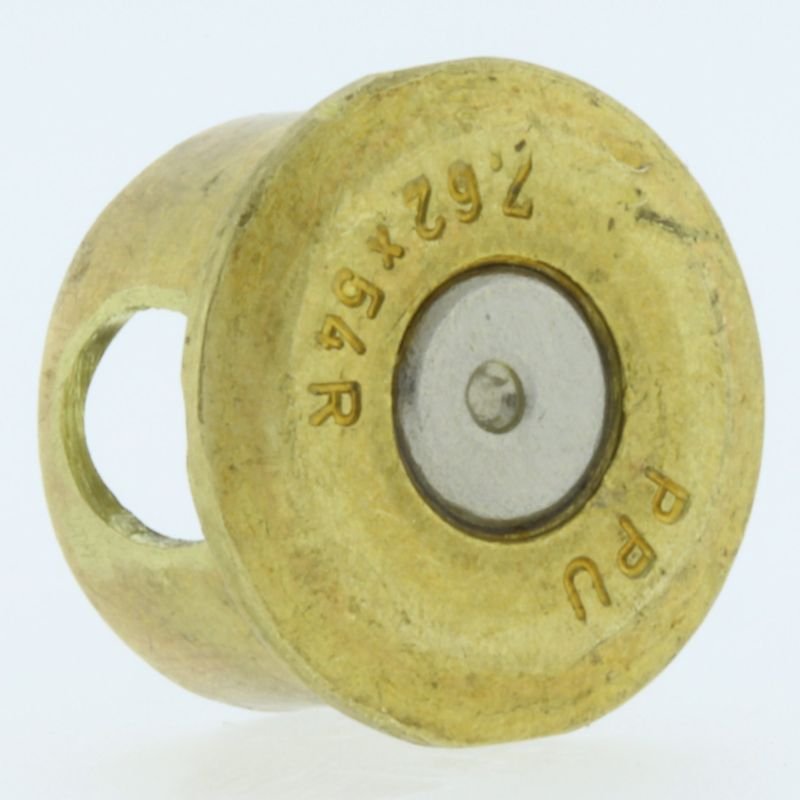 7.62X54MM Bullet Casing Bead In Brass With Nickel Primer By Bullet Bangles