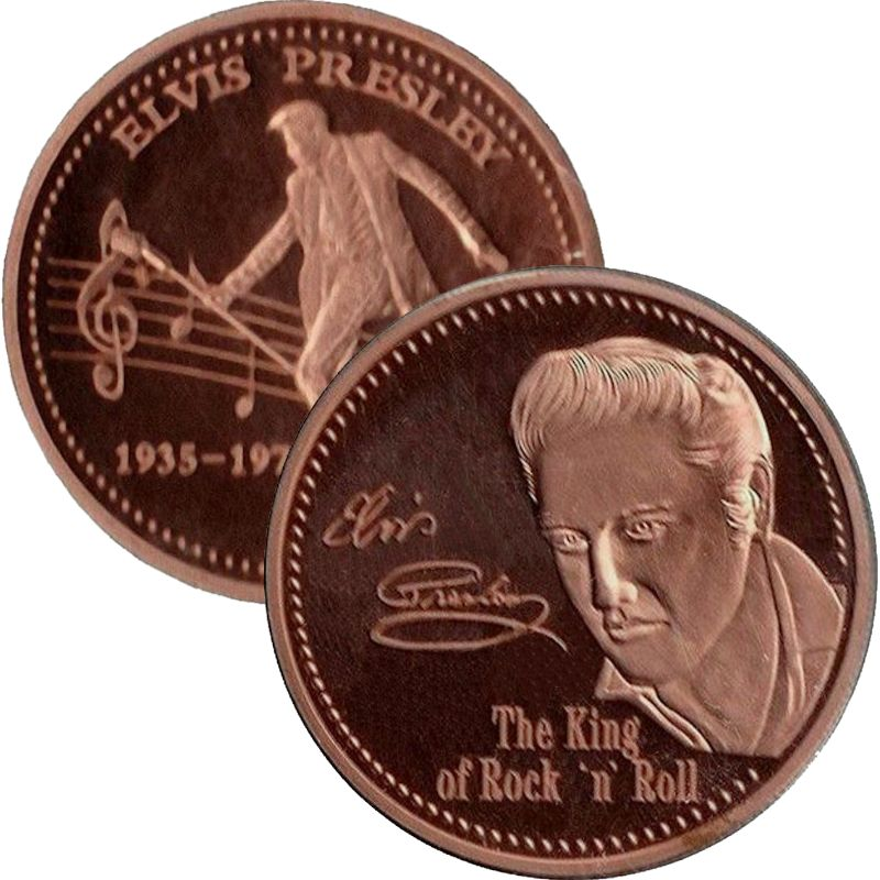 Elvis Presley 1oz Copper Round