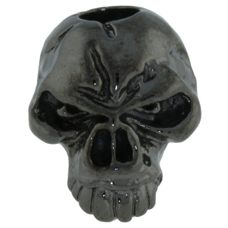 Emerson Skull Bead in Hematite Finish by Schmuckatelli Co.