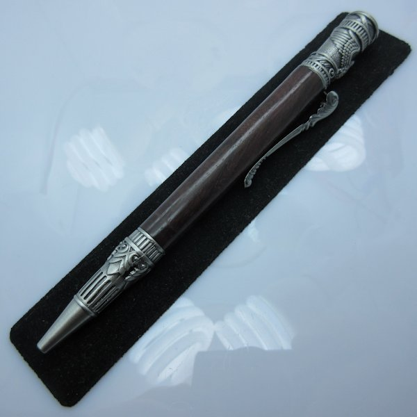 Federal Twist Pen in (Rosewood) Antique Pewter