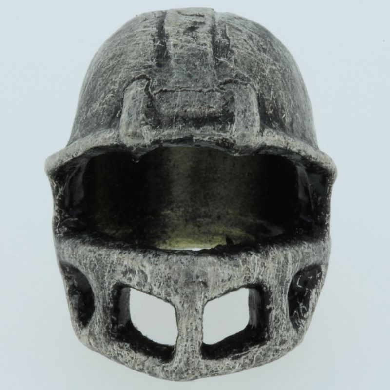 Football Helmet Bead in Pewter by Marco Magallona