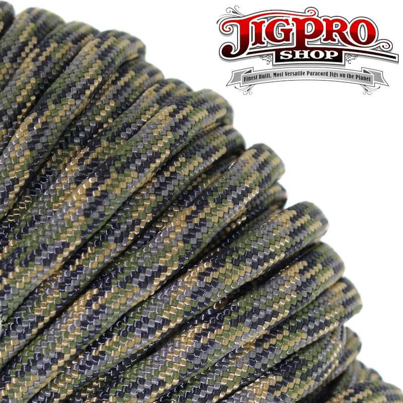 Forest Camo 550# Type III Paracord 100' C28