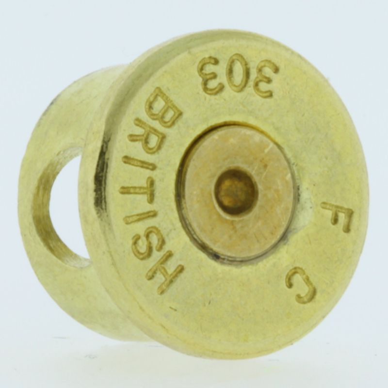 .303 Caliber Bullet Casing Bead In Brass With Brass Primer By Bullet Bangles