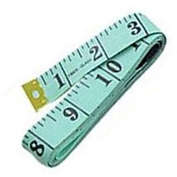 "60"" Soft Flexible Non-Stretching Measuring Tape Ruler (Green/Black)"