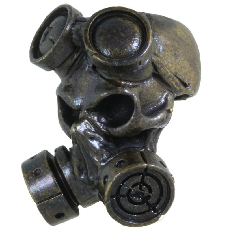 Gas Mask in Brass With Black Patina by Covenant Everyday Gear
