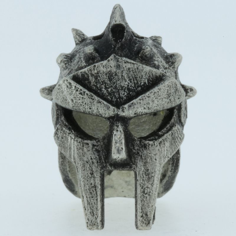 Gladiator Helmet Bead in Pewter by Marco Magallona