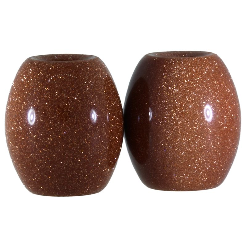 Gold Sand Stone Beads (Set of 2 Beads)