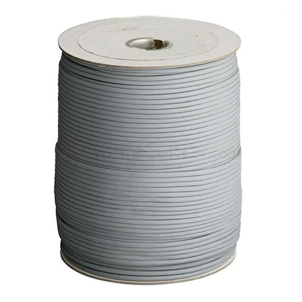 Grey 550# Type III Paracord 1000' Spool SS12