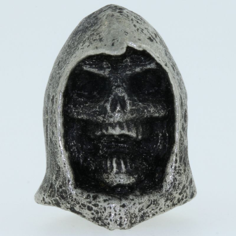 Grim Reaper Bead in Pewter by Marco Magallona