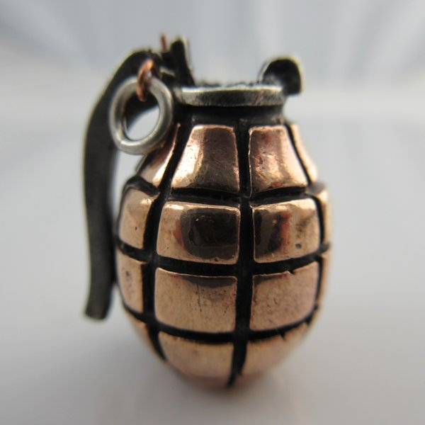 Hand Grenade in Copper & Sterling Silver by Lion ARMory