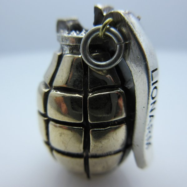 Hand Grenade in Brass & Sterling Silver by Lion ARMory